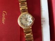 Cartier Ballon Bleu 18K pink gold case, set with brilliant-cut diamonds