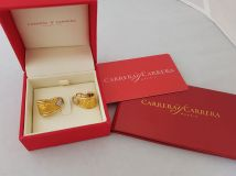 Carrera y Carrera 18K Gold and diamond Angel Huggie Earrings