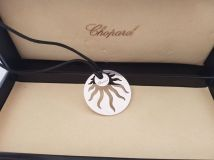 Chopard 18K White Gold Happy Sun Necklace 796447