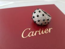 Cartier Panthere Diamond Onyx Ring