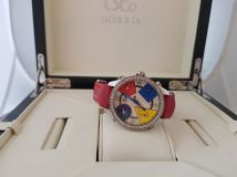 Jacob & Co : Five Time Zone - 40mm 2.00ct Bezel JCM25