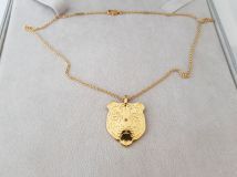 Carrera y Carrera 18K Yellow Gold Tiger Pendant Necklace