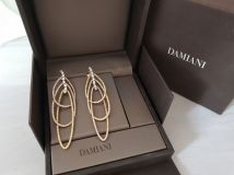 Damiani Earrings: 18k Rose, Yellow & White Gold & Diamonds
