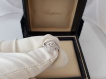 Chopard 18k White Gold Diamond Eye Ring 825655-1106