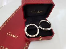 Cartier Large Gold Hoop Earrings