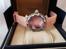 Chopard Happy Sport Diamond Ruby Heart Steel