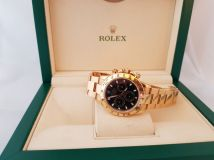 Rolex Cosmograph Daytona Black Dial 18K Yellow Gold Oyster Bracelet 116528BKSO