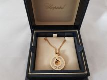 Chopard Happy Diamonds Round 18K Yellow Gold Pendant Necklace