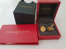 Carrera y Carrera 12854/ Lion Head 18k Gold Cufflinks