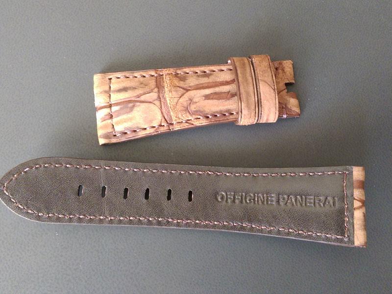 Купить ремешок из кожи для оригинальных часов Панерай в Киеве
